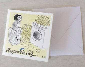 ansichtkaart wasmachine postcard washing machine