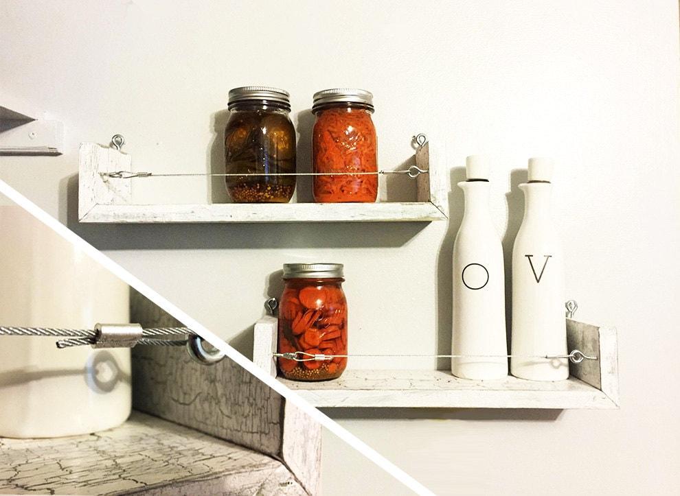 Spice Rack Set Rustic Floating Shelf Set Shelf Bathroom