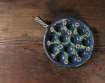 Vintage Mexican Pottery, Vintage Mexican Escargot Server