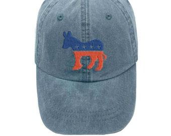 Democrat Donkey Cap - Democratic Cap - Patriotic Cap - Presidential Cap - 2016 Election - Presidential Election - Democratic Campaign Hat