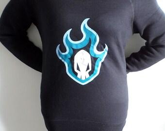 Bleach Anime/Manga Soul Society logo slouch sweatshirt for women