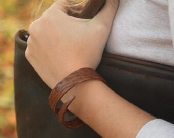 Bentwood Spiral Bracelet, Solid Steam Bent Wood