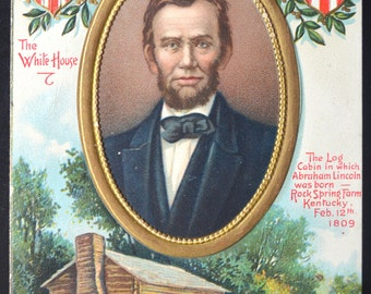 Lincoln Postcard E. Chapman President's Day Card