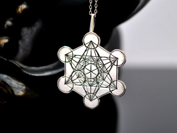 Metatron 39 s cube sterling silver 925 sacred geometry gift for Metatron s cube jewelry