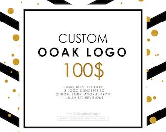 Custom Logo Design OOAK Logo Design Photography Logo Design Blog Logo