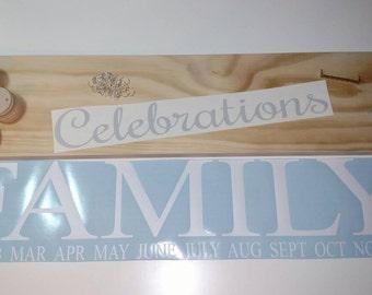 DIY Family Birthdays Sign Kit, Family Celebrations Sign, Birthday Sign