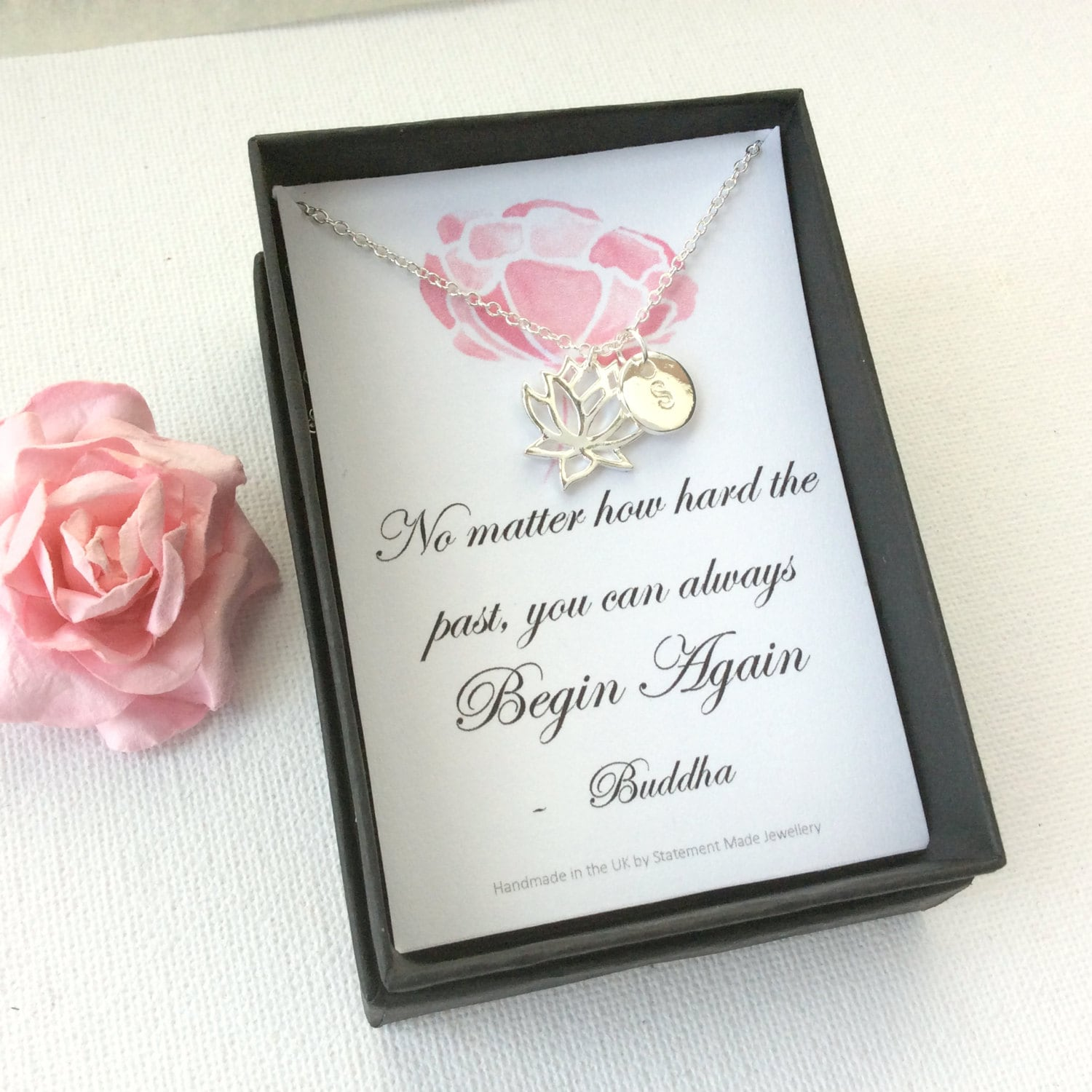 buddha quote buddha necklace lotus flower necklacemessage