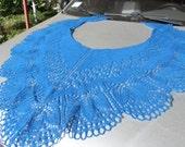 Women's shawl Shawl knitted Shawl wool Lace wool shawl Blue lace shawl Warm shawl Winter shawl Shawl from Latvian wool Shawl with pattern
