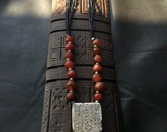 ANTIQUE KITAB NECKLACE,Higab talisman,Berber silver,ethnic jewelry,African jewelry,Berber talisman