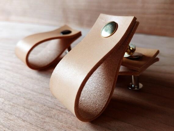 Leather Pulls Drawer Dresser Cabinet Door Handles Cabinet