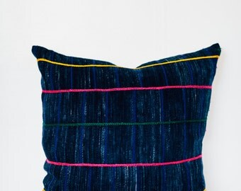 Vintage African Indigo Pillow Cover 20x20""