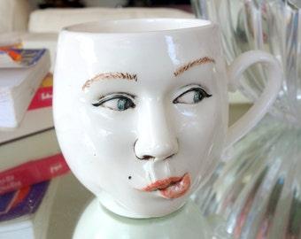 "Porcelain ""Mug"" Mug / Tea Cup"