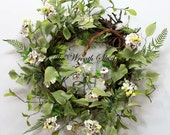 Cherry Blossom Wreath, Spring Wreath, Summer Wreath, Front Door Wreaths, Country Wreaths, Spring Decor, Wreath for Front Door, Bird Nest