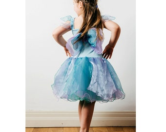 Fairy Dress | Fairy Costume | Princess Dress | Party Dress | Girls Dress - Pretty Fairy Dress with Wings / Mint