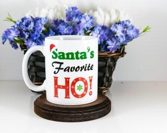 Santa's Favorite Ho Funny Christmas Coffee Mug