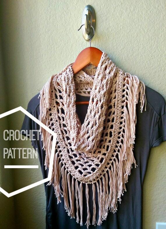 crochet scarf pattern triangle scarf pattern fringe scarf