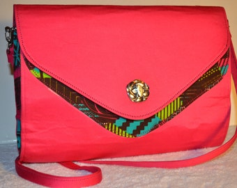 "African Print Sling bag with Detachable straps. ""Doyinsola"" Collection."