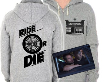 Fast 8 Fast and Furious Inspired Hoodie Torettos Market and cafe Ride or Die Original Design Screenprint