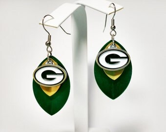 Green Bay Packers Scale Earrings