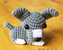 Handmade Crochet Dog, Dog Plush Toy, Crochet keychain