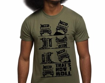 Men's 4x4 T Shirt This Is How I Roll 4X4 Four Wheel Drive 4WD Off Road T Shirts