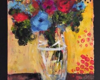 Mixed Media Floral #10