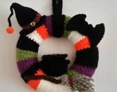 Halloween Wreath  Crochet Door Wreath  Halloween Decor  Witch Wreath  Home Decor  Halloween Decoration  Witch Home Decor