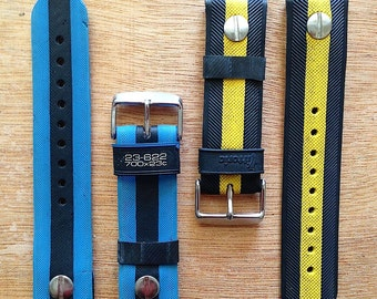 WATCHBELTS (watch straps) handmade from upcycled bicycle tyres & tubulars