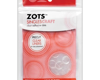 Zots Singles Craft - Clear Adhesive Glue Dots