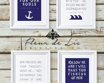 Nautical Theme Bible Verse | Instant Download | Printable | Wall Art