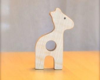 Wooden teether giraffe & teething toy