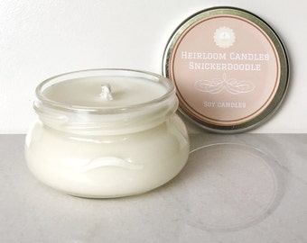 Snickerdoodle Scented Soy Candle - Holiday Candle - Christmas Candle - Seasonal Candle - Food Candle - Cookie Candle - Vanilla Candle