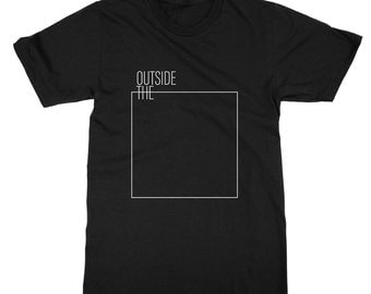 Outside The Box T-shirt - Think, Leader, Creative Thinking, Product Designer, Problem Solver, know it, Mens Womens Ladies Kids T Shirt Tee