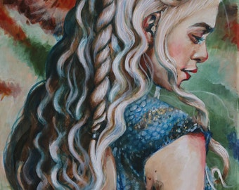 Daenerys Targaryen -GAME OF THRONES- inspired painting