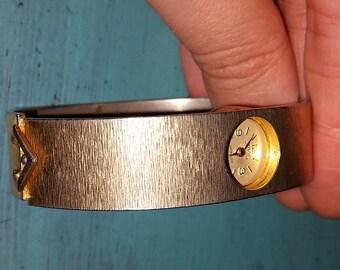 On Sale! Gold toned Enzo in jewels Incabloc Wind Bangle Watch, Swiss Made Watch, 1950's Watch, Enzo in jewels watch, vintage watch