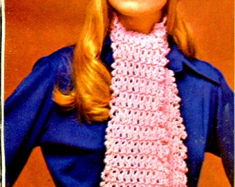 1960's  Crocheted Beret & Matching Scarf PDF Pattern Instant Download