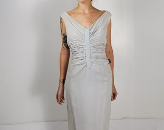 Vintage  Classic Gray Gown/ Small