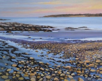 "Giclee Print  ""Lowtide At Sunset""  16""x20"""