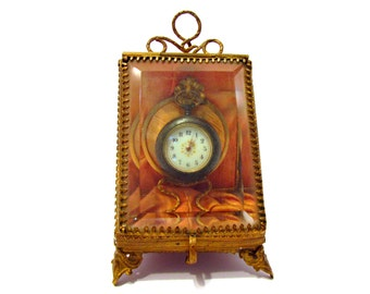 Decoration display (thumbnail) for small pocket watches (sale with held Pocket Watch)