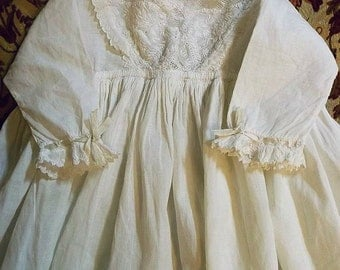 Antique Ayrshire Christening Gown - Handmade