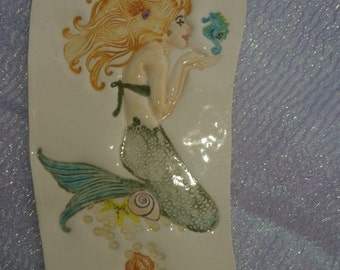 Seahorse Mermaid Earring Display