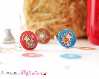 Cowboy Baby Printable 1 Inch Circles, Bottle Cap Circles, Printable Cowboy Circles, Printable Candy Circles, Baby Party, Confetti, Instant