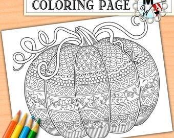 Halloween coloring | Etsy