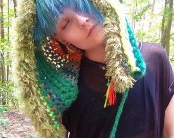 Knitted spirit hood