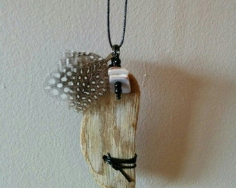 "Necklace / Necklace / Driftwood necklace / collar Driftwood / Modern necklace / ""Rock"