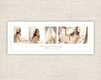 Minimal Photography Facebook Timeline Cover - Elegant Wedding Facebook Cover Template, Timeline Template for Photographers, INSTANT DOWNLOAD