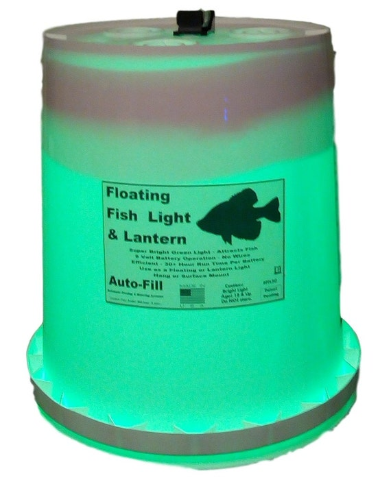 Floating fish light lantern crappie love it 9 volt for Floating fishing light