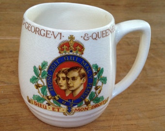Vintage Barker Bros. Commemorative King George VI 1937 Coronation Cup. In Very Good Condition