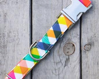 """The """"Rainbow Plaid"""" Collar"""