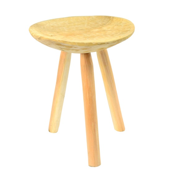 Small Wooden Stools ~ Wooden stool small rustic shabby chic primitive retro vintage